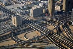 城市的Arial视图 免版税库存图片