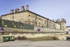 城市监狱位于历史的中心 免版税库存照片