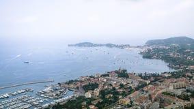 城市看法法国海滨彻特d'Azur的  图库摄影