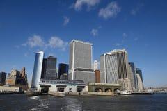 城市码头曼哈顿纽约 库存图片