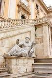 城市神大厅罗马的尼罗河 图库摄影
