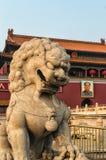 城市禁止的狮子 免版税库存图片