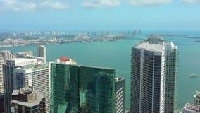 城市空中寄生虫录影迈阿密布里克尔 股票视频