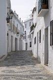 城市空白马拉加mijas的街道 免版税库存图片