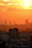 城市红色 库存图片