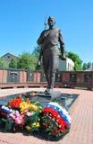 城市纪念碑未知的myshkin战士 免版税库存图片