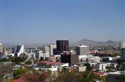 城市纳米比亚视图温得和克 免版税库存图片