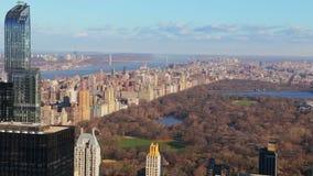 城市纽约 晚秋天在中央公园 影视素材