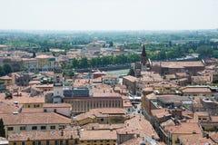 城市维罗纳的一个美妙的看法在北意大利 免版税库存照片