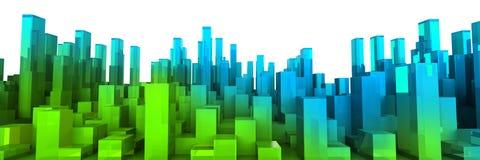城市绿色 向量例证