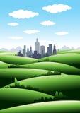 城市绿色 库存例证