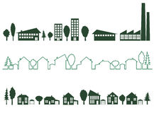 城市绿色 免版税库存照片