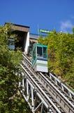 城市缆索铁路的老魁北克 免版税库存照片