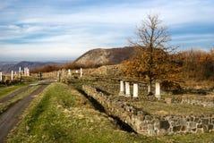 城市罗马帝国的porolissum 免版税库存照片