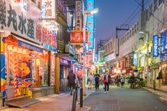 城市美好的全景微明的在上野地区东京 库存图片