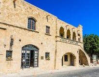 城市美术画廊 老城镇 Lindos 希腊 免版税库存照片