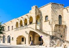 城市美术画廊 老城镇 Lindos 希腊 库存图片