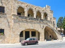 城市美术画廊 老城镇 Lindos 希腊 免版税库存图片