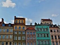 城市老华沙 免版税库存照片