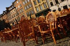 城市老华沙 免版税库存图片