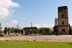城市老巴拿马废墟 免版税库存照片