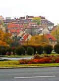 城市老波兰异常的视图华沙 免版税库存照片