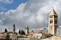 城市老耶路撒冷 库存图片