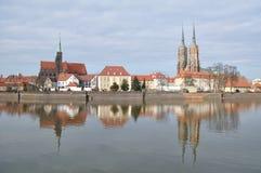 城市老wroclaw 免版税库存图片