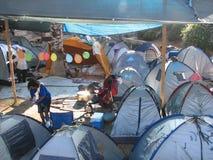 城市耶路撒冷帐篷 库存照片