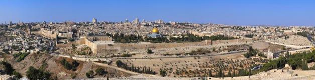 城市耶路撒冷老全景 图库摄影