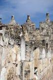 城市耶路撒冷老墙壁 免版税库存图片
