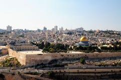 城市耶路撒冷老墙壁 免版税库存照片