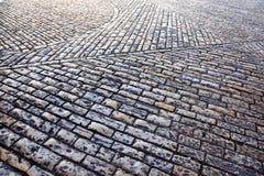 城市耶路撒冷老岩石街道 免版税图库摄影