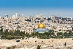 城市耶路撒冷老视图 库存照片