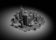 城市聚光灯 库存照片