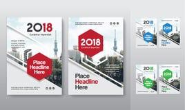 城市背景企业书套在A4的设计模板 免版税库存照片