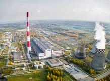 城市能源和温暖的次幂工厂 秋明州 俄国 免版税库存图片
