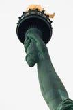 城市自由新的雕象火炬约克 免版税库存照片