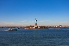 城市自由新的雕象约克 免版税库存图片