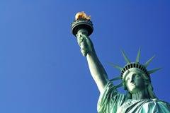 城市自由新的雕象美国约克 免版税库存照片
