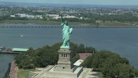 城市自由newyork雕象日落 股票视频