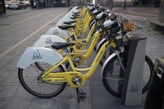 城市自行车汉城 图库摄影