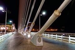 城市艺术的夜视图在城市 免版税图库摄影