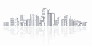 城市草图地平线 免版税库存图片