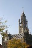 城市荷兰语大厅middelburg 免版税库存图片