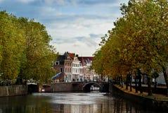 城市荷兰语美丽如画的乌得勒支 库存照片
