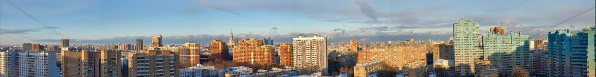 城市莫斯科全景视图 免版税库存图片