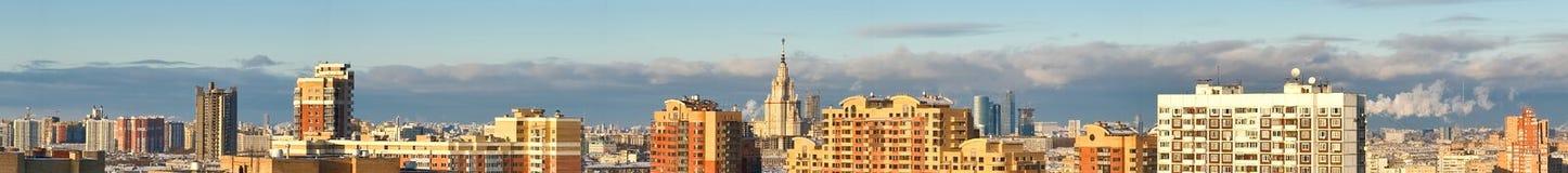 城市莫斯科全景视图 库存照片