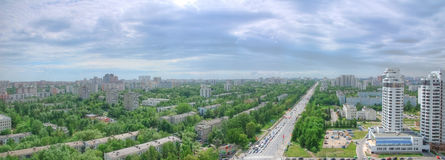 城市莫斯科全景 免版税库存图片