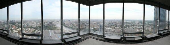 城市莫斯科全景 免版税图库摄影